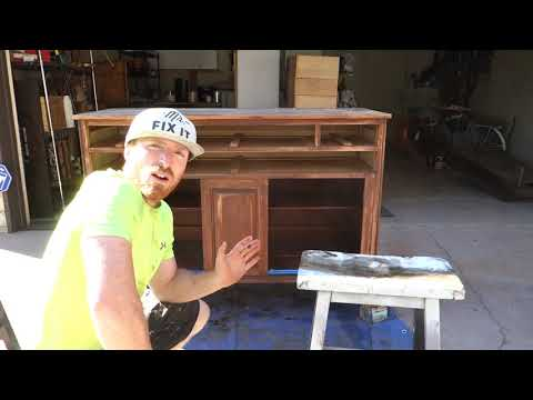 Furniture Makeover: Transforming a Black China Hutch DIY project