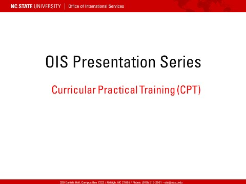 CPT - Curricular Practical Training