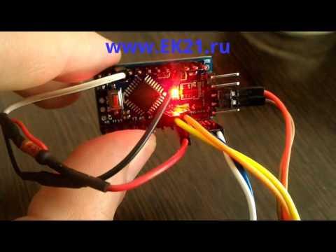 Arduino PRO Mini + OLED 128х64 I2c + DS18b20 = Электронный термометр АРДУИНО