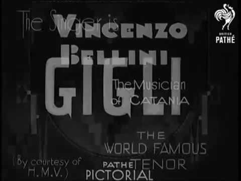 Beniamino Gigli sings A te o cara (excerpt) from Bellini's I Puritani (1935)