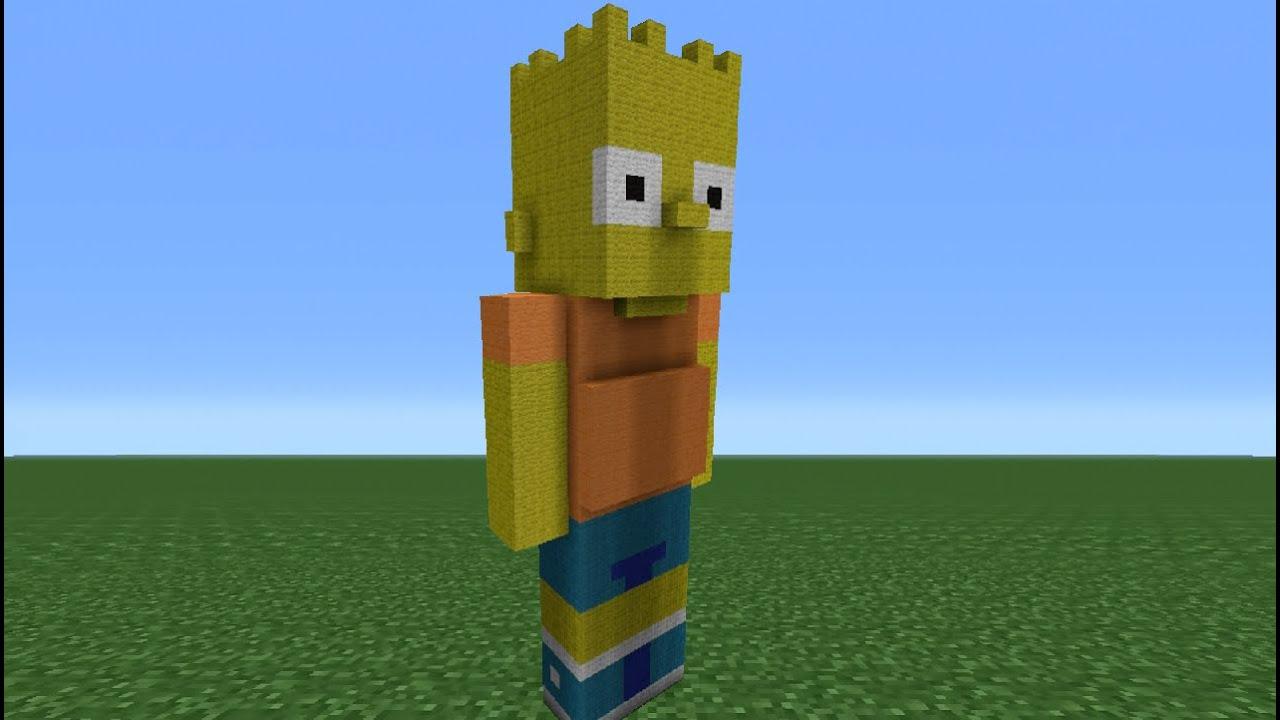 Minecraft Tutorial How To Make Bart Simpson