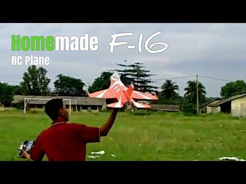 KEREN ! Pesawat RC F16 depron homemade