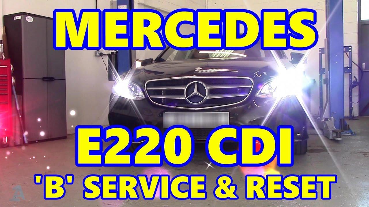 Mercedes E220 CDI 'B' Service & ASSYST Reset W212