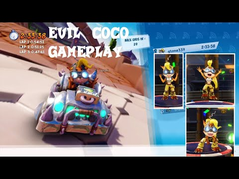 CTR Nitro-Fueled - Evil Coco Gameplay (Online)