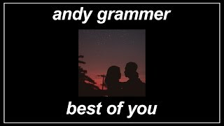 Download now Best Of You - Andy Grammer MP3
