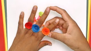 Rose Paper ring | DIY crafts | How to make minute crafts for kids | easy origami