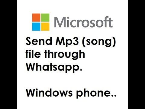 Sending MP3(song) file through WhatsApp (Windows phone)