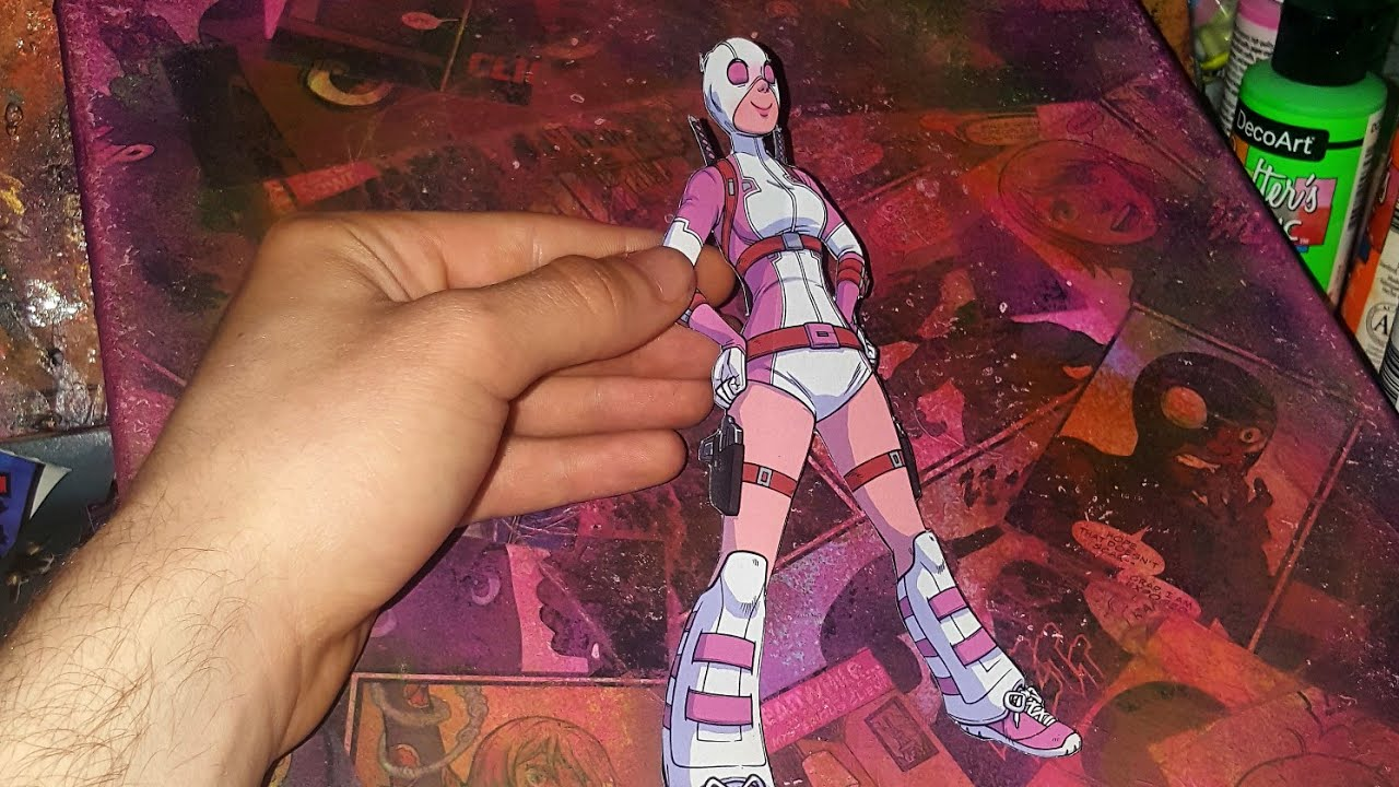 How To Turn Aic Book Into Canvas Art  Gwenpool