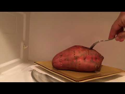 How To Microwave A Sweet Potato