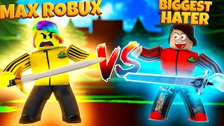 #1 PLAYER is TOFUU HATER with PARENT'S ROBUX.. So I had to spend MAX ROBUX.. (Roblox Ninja Masters)