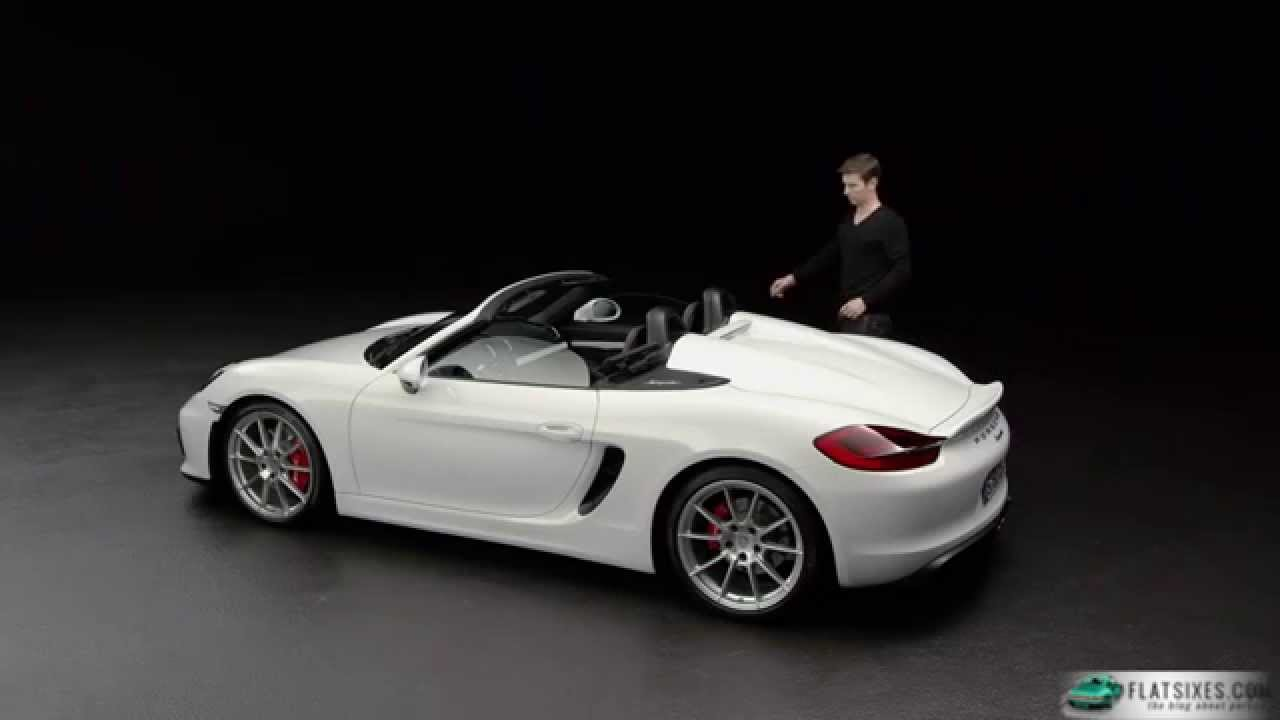 2015 porsche boxster spyder top operation youtube