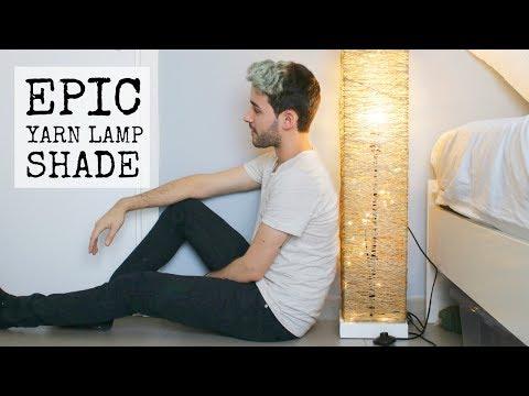 DIY EPIC YARN LAMP SHADE + IKEA RENOVATION |DanDIY