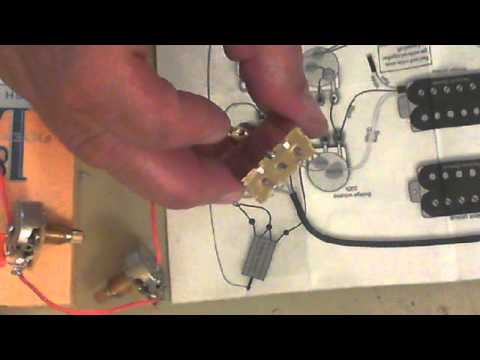 hqdefault number 4 video how to wire up a chinese guitar 2 humbuckers, 2 vol,Wiring A Telmaster Guitar Kit Youtube