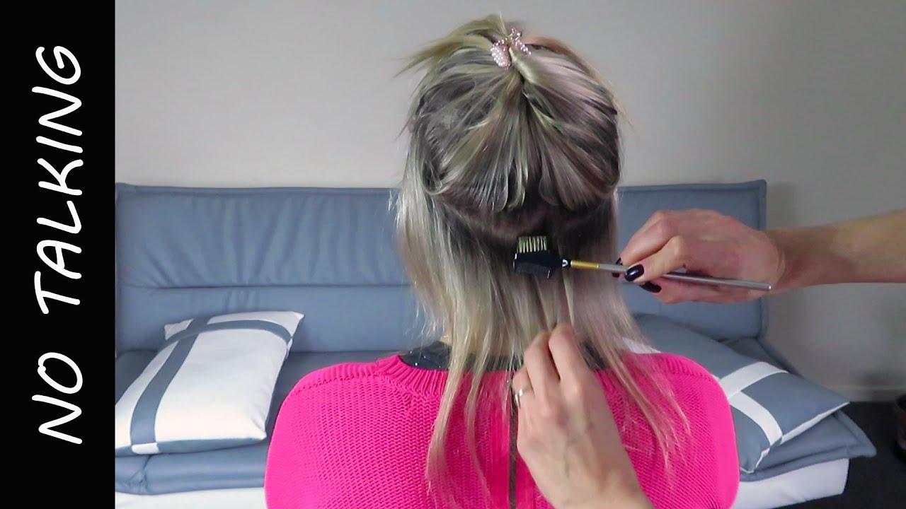 Deeply relaxing hair play and brush no talking ASMR