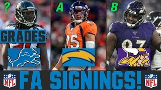 2020 NFL Free Agency Signings & News | Grading Latest NFL Free Agency Signings