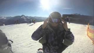 Трасса Харакири с уклоном 78%! Падение на сноуборде! С 2.52!! Майрхофен 2016