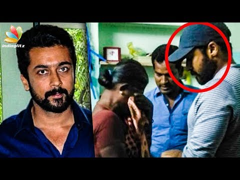 Suriya's Emotional Visit to his Late Fan's Family