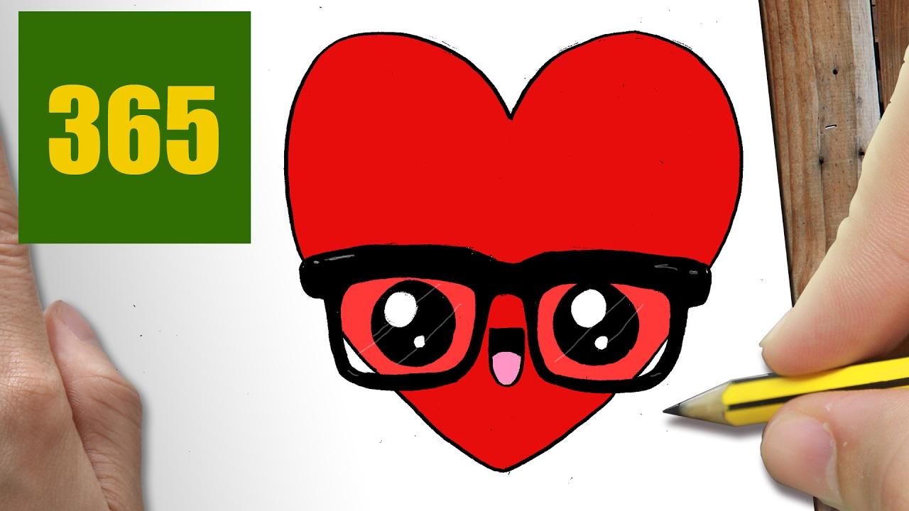 Comment dessiner c ur kawaii tape par tape dessins - Dessin de coeur brise ...
