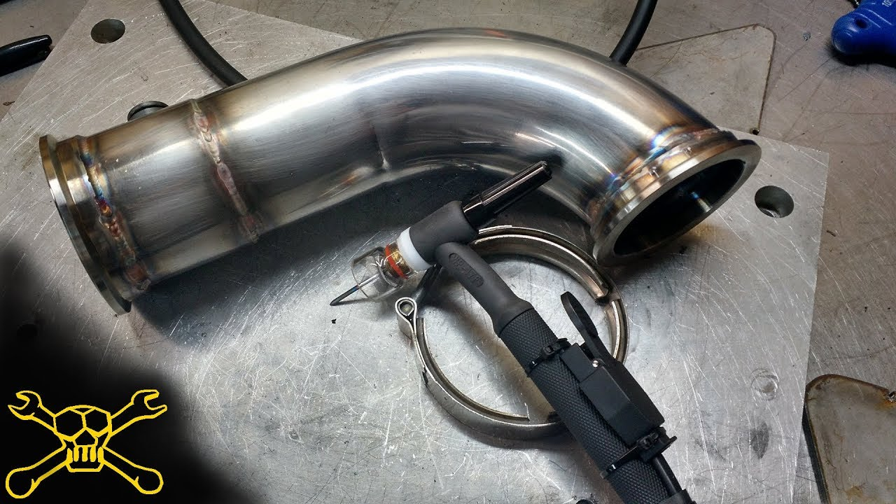 tig welding stainless exhaust twin turbo mustang