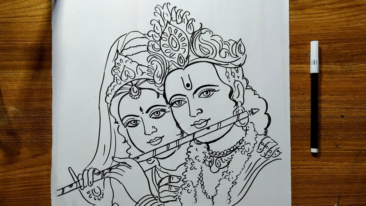 Radhastami Special Radha Krishna Drawing How To Draw Lord Krishna And Radha Lord Krishna Drawing Youtube