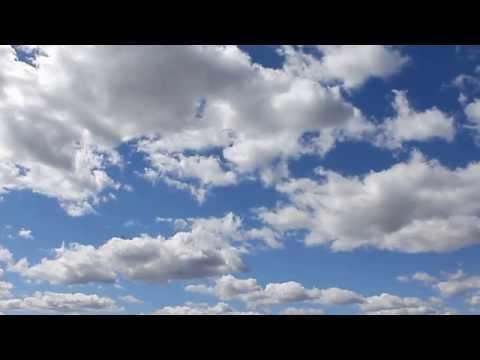 футаж для монтажа Небо с облаками Nature.Free footage.