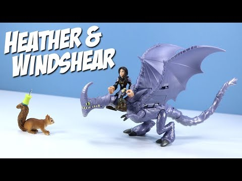 Dragons Race to the Edge Heather & Windshear Dragon Riders Toy Review