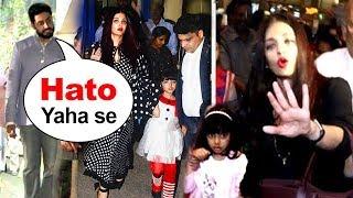 Abhishek Bachchan Lashes Out As Paparazzi Harass Aishwarya Rai & Daughter Aradhya At School