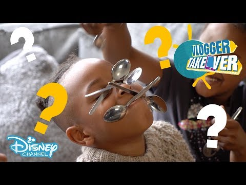 Vlogger Takeover | QUIZ with Tekkerz Kid and his family! | Disney Channel UK
