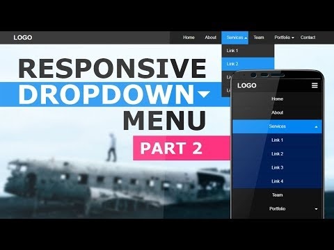 Responsive Dropdown Navigation Menu Using Html CSS And Javascript - Responsive Navbar Tutorial