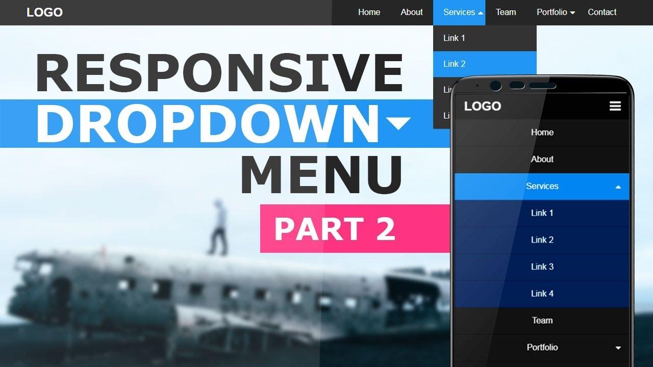 Responsive Dropdown Navigation Menu Using Html CSS and Javascript -  Responsive Navbar Tutorial