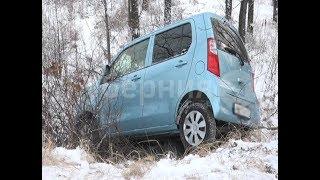 Машина скатилась с моста в северной части Хабаровска. Mestoprotv