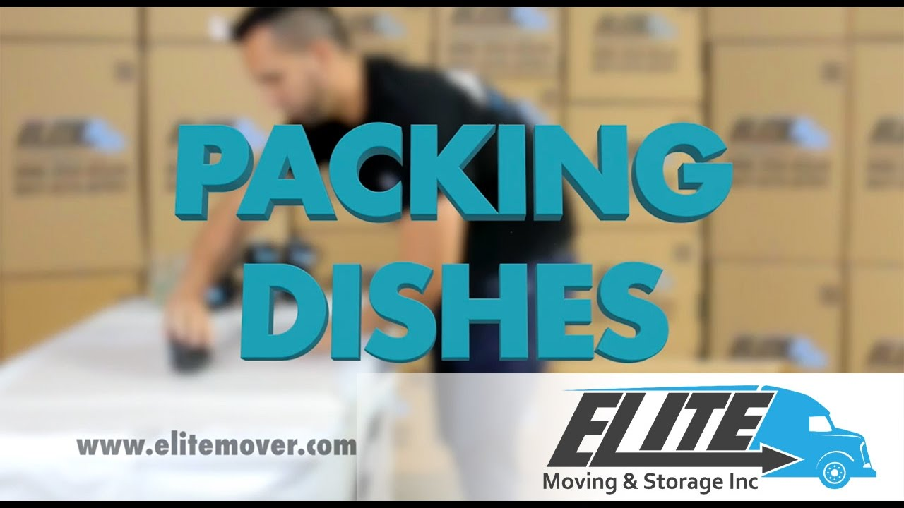 How To Pack Dishes When You Are Moving - YouTube