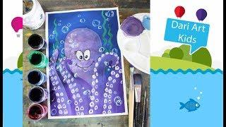 Рисуем с детьми! Осьминог гуашью! #Dari_Art_Kids