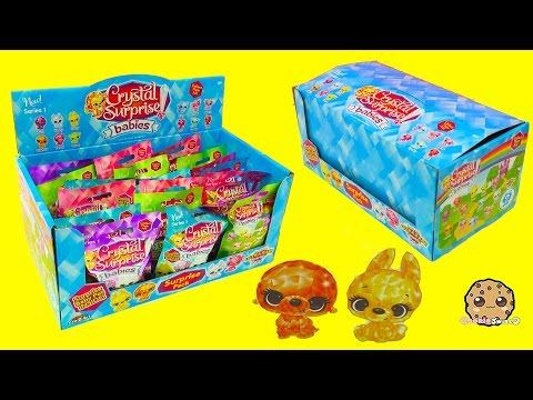 Crystal Babies Surprise Baby Pets Blind Bags Box Unboxing - Cookieswirlc Videos