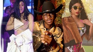 Cardi B wardrobe malfunction - Nicki Minaj gets shaded by Lil' Nas X