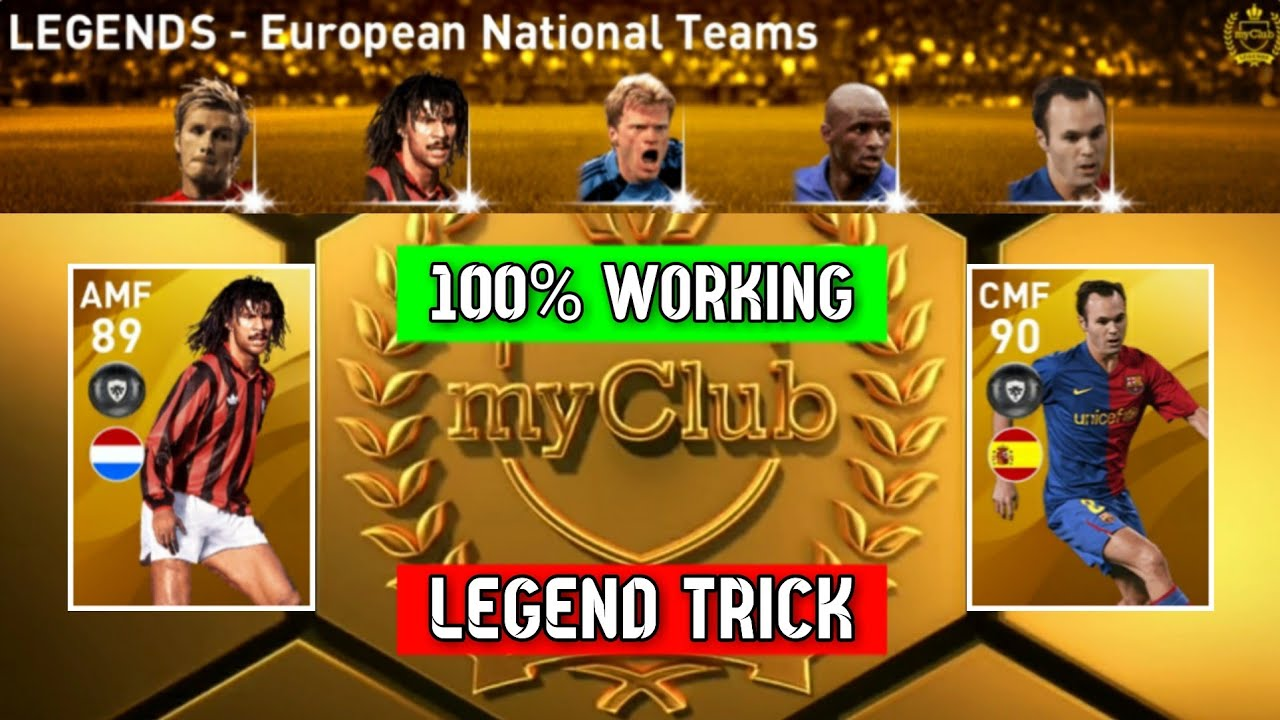 How To Get LEGEND From LEGENDS - European National Teams Pack in Pes 2020 Mobile