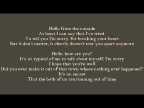 Hello adele  lyrics