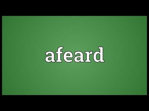 Header of afeard