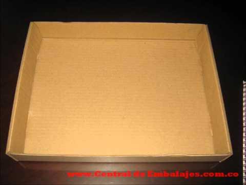 Como armar una caja de carton tipo archivo x 300 youtube - Como forrar una caja con tela ...
