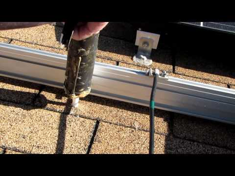 Solar Panel Mounting to Roof How To By VIARLOCITY