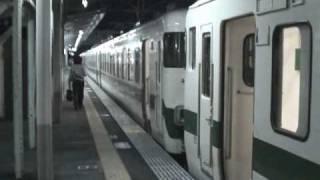 大甕駅455系9連到着・発車