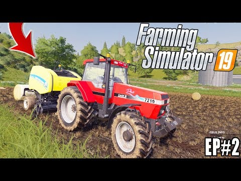 FARMING SIMULATOR 2019 - FARM WORK! EP#2 - CASE + NEW HOLLAND thumbnail
