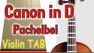 Canon in D - Pachelbel - Violin - Play Along Tab Tutorial