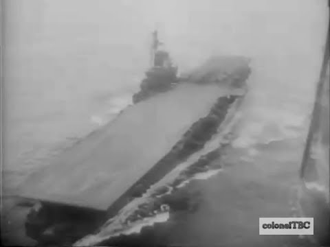 USS Midway (CV-41) in Arctic Tests - March 1946