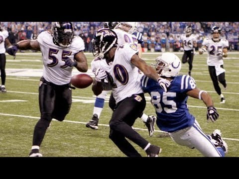 Pierre Garçon Strips Ed Reed on Chasedown after Interception || Colts vs Ravens Divisional 2009