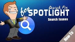 How to re-index and fix Spotlight search issues on Mac OS X
