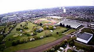 Lee Valley Golf course and Campsite from above