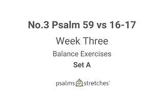 No.3 Psalm 59 vs 16-17 Week 3 Set A