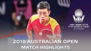 Xu Xin vs Patrick Franziska | 2018 Australian Open Highlights (1/4)