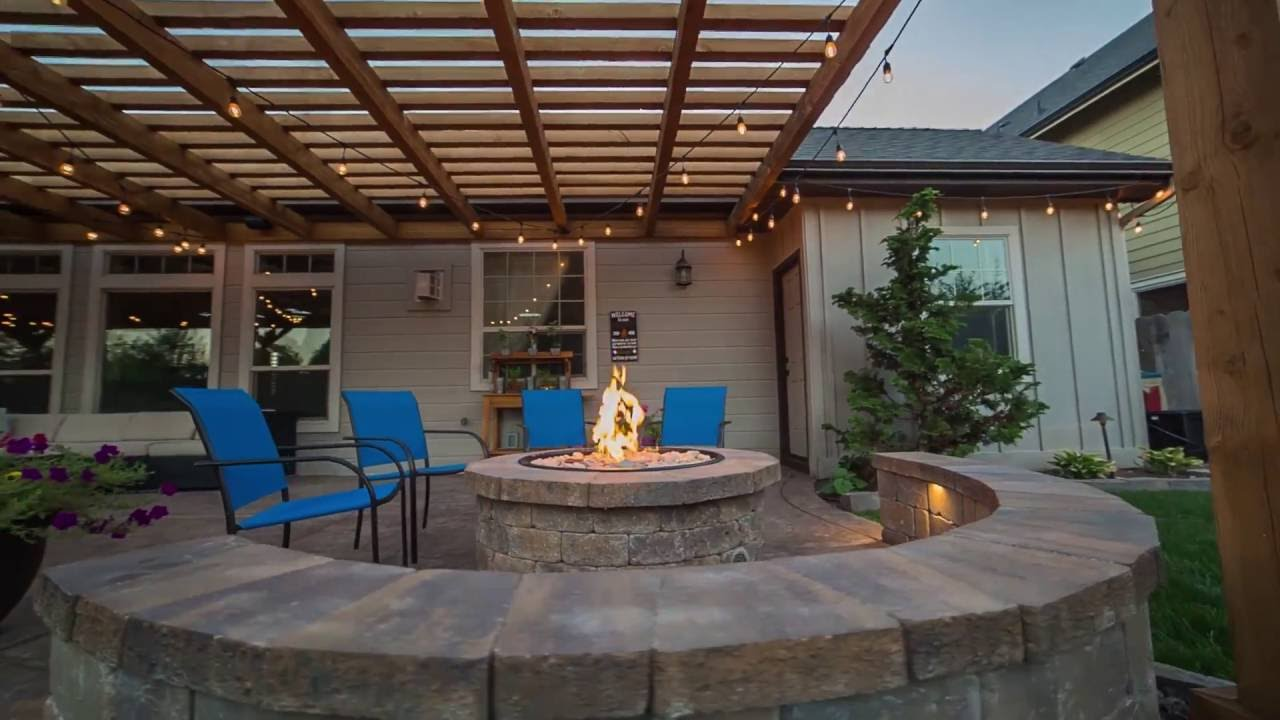 Townsend Backyard Kitchen and Outdoor Living Space - YouTube on Outdoor Kitchen Living Spaces id=52160